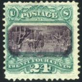 NEW WORLD AUCTION RECORD PRICE IS REALIZED FOR A U.S. INVERT STAMP, AS 1869 24-CENT EXAMPLE BRINGS $1.271 MILLION AT PHILIP WEISS FEB. 9 SALE