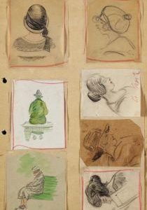 Heinrich Zille drawings discovered in a house that burnt down featured at Ketterer Kunst auction