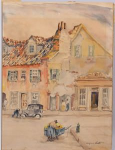 WATERCOLOR ON BOARD PAINTING BY ALFRED HUTTY (S.C., 1877-1954) SELLS FOR $34,500 AT MARCH 15 SALE HELD BY LELAND LITTLE AUCTION & ESTATE SALES, LTD