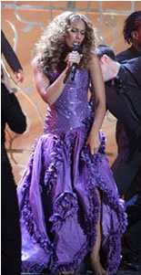 Leona Lewis Bespoke Cavalli BRITs Dress To Be Auctioned