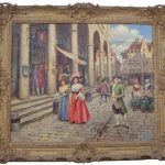 PARISIAN STREET SCENE BY THE FRENCH ARTIST HENRI VICTOR LESUR (1863-1900) SOARS TO $14,575 AT MULTI-ESTATE SALE HELD JUNE 29th BY HAL HUNT AUCTIONS