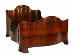 RARE, BEAUTIFUL JOHN HENRY BELTER LAMINATED ROSEWOOD BED, CIRCA 1850, GAVELS FOR $33,350 AT SALE HELD JUNE 21 BY GRAND VIEW ANTIQUES & AUCTION
