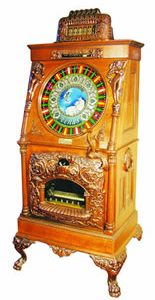 CAILLE VENUS UPRIGHT SLOT MACHINE, THE BEST EXAMPLE OF ONLY FOUR KNOWN WILL HEADLINE SHOWTIME AUCTION SERVICES OCT. 10-12 SALE IN ANN ARBOR, MICH.