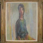 ORIGINAL 1947 OIL PAINTING BY RENOWNED IRISH ARTIST COLIN MIDDLETON, TITLED TERESA, HITS $71,500 AT MULTI-ESTATE SALE HELD SEPT. 26-27 BY RICHARD D. HATCH