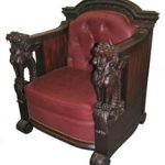 ANTIQUE MAHOGANY WINGED GRIFFIN 2-PIECE PARLOR SUITE BY R.J. HORNER (CIRCA 1880s) BRINGS $10,450 AT HAL HUNT NEW YEAR'S SALE