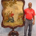 ROSEWOOD ROCOCO CENTER TABLE (CIRCA 1855), ATTRIBUTED TO J. & J.W. MEEKS, SOARS TO $11,000 AT ESTATE SALE HELD JAN. 10 BY STEVENS AUCTION COMPANY