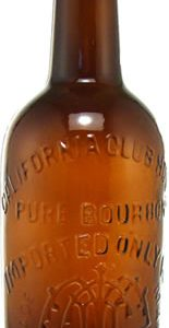 CALIFORNIA CLUBHOUSE WHISKEY BOTTLE (CIRCA 1872-74), ONE OF ONLY NINE KNOWN, BRINGS $30,240 AT AMERICAN BOTTLE AUCTIONS SALE ENDED AUG. 21st