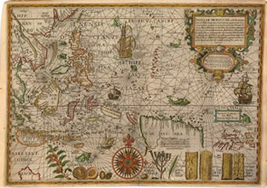 One of the most important colonial maps of north america published the map insulae moluccae celeberrimae drawn by petrus plancius in 1598 and published in linschotens itinerario was based on covertly obtained gumiabroncs Images