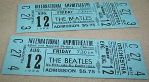 BEATLES Concert Tickets Highlight RocknRoll Auction