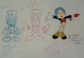 Jiminy Cricket Animation Art at PWAuctions