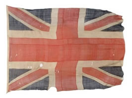 RARE TRAFALGAR FLAG TO BE SOLD EXACTLY  204 YEARS AFTER THE FAMOUS BATTLE