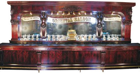 MONUMENTAL BRUNSWICK, BALKE & COLLANDER CO. FRONT AND BACK BAR, CIRCA 1890, THE L.A. MODEL, SOARS TO $302,500 AT OCT. 2-4 AUCTION IN ANN ARBOR, MICH.