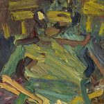Painting of a Frank Auerbach Muse for Bonhams Auction