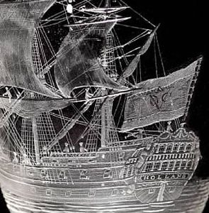 Ships on Glass for Bonhams Auction of British Glass