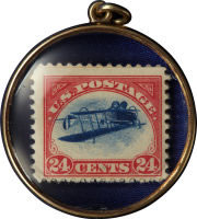 Inverted Jenny Locket for Heritage Rare Stamps Auction