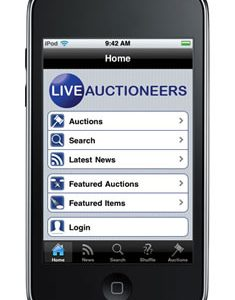 LiveAuctioneers releases world's first iPhone app enabling real-time bidding