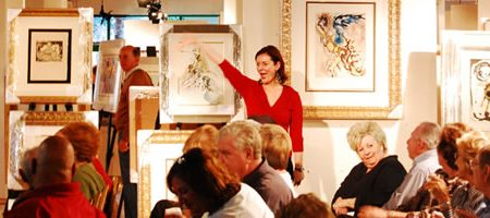 OVER 300 PEOPLE ATTEND INAUGURAL AUCTION EVENT HELD FEB. 20 BY BATERBYS ART AUCTION GALLERY