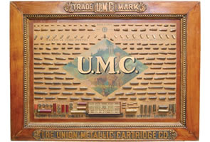 EXTREMELY RARE 1899 UMC FACTORY BULLET BOARD IN EXCELLENT CONDITION BRINGS $11,769 IN ONLINE SALE HELD BY SOLDUSA.COM