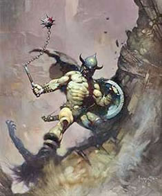 Frank Frazetta Fantasy Art Classic Image for Auction