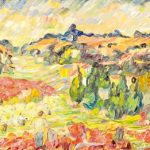 Bouzianis Painting for Bonhams Greek Sale