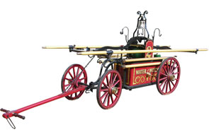 FIREMEN'S HUNNEMANN HAND-DRAWN HANDTUB WITH PUMPER, BUILT IN 1860, BRINGS $99,000 AT AUCTION HELD APRIL 9-11 BY SHOWTIME AUCTION SERVICES