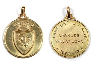 John Charles Football Medal for Bonhams Sporting Memorabilia Auction