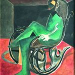 Ahmed Moustafa Man in a rocking chair for Bonhams Dubai Art Auction