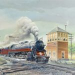 Quinn's to Auction Train Art by Manville Wakefield