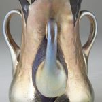 STUNNING TIFFANY & CO. FAVRILE LAVA GLASS 3-HANDLED VASE HITS $62,100 AT TWO-SESSON SALE HELD BY LELAND LITTLE AUCTION & ESTATE SALES, LTD