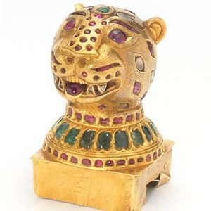 Bonhams to Auction Second Gold Gem-Set Finial From Fabled Throne of Tipu Sultan