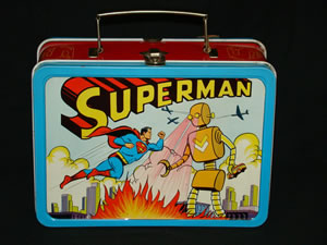 1954 SUPERMAN VS. THE ROBOT LUNCH BOX IN MINT CONDITION SELLS FOR $11,865 AT MULTI-ESTATE SALE HELD OCT. 22-24 BY PHILIP WEISS AUCTIONS