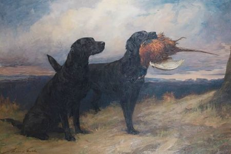 Maud Earl Labrador Dog Painting for Auction
