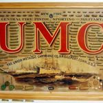 ORIGINAL UMC LITHOGRAPH BULLET BOARD FEATURING BATTLESHIP SCENE AND OVER 170 ATTACHED CARTRIDGES GAVELS FOR $2,938 AT SOLDUSA.COM