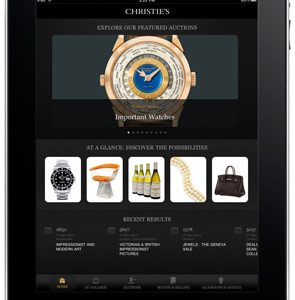 Christie's Launches Free App Optimized for Apple iPad