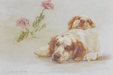 Maud Earl Painting of Clumber Spaniels Offered at Bonhams