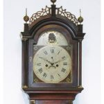EARLY 19th CENTURY SIMON WILLARD TALL CASE CLOCK, 93 ½ INCHES TALL EARLY 19th CENTURY SIMON WILLARD TALL CASE CLOCK, 93 ½ INCHES TALL AND SIGNED ON THE DIAL, REALIZES $32,900 AT GORDON S. CONVERSE SALE