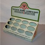 EXTREMELY RARE TEXACO HOME LUBRICANT PAINTED METAL COUNTER-TOP DISPLAY RACK SELLS FOR $7,425 AT MATTHEWS AUCTIONS SALE HELD JUNE 25