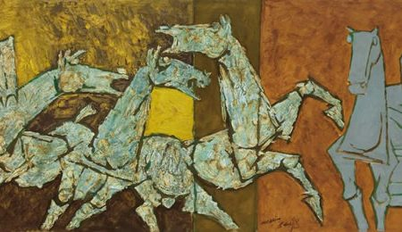 MF Husain paintings highlight Christie's sale of South Asian modern + contemporary art