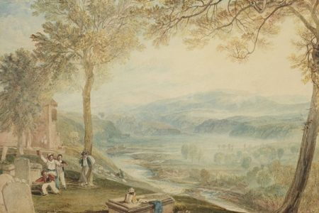 Bonhams to Auction JMW Turner Painting of Kirkby Lonsdale Churchyard