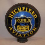 RICHFIELD AVIATION GASOLINE 15 INCH SINGLE LENS IN A METAL GLOBE BODY SELLS FOR $15,400 AT AN AUCTION HELD NOV. 26 BY MATTHEWS AUCTIONS, LLC