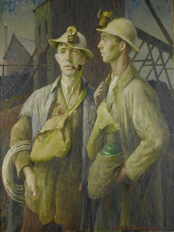 Harold Harvey Painting Of Tin Miners In Cornwall auctioned for £40,850 at Bonhams