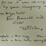 MYSTERIOUS TOLKIEN LETTER DISCOVERY AUCTUIONED At RICHARD WINTERTON AUCTIONEERS