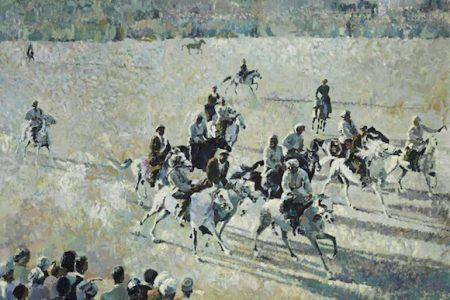 Bonhams to auction Buzkashi picture by Ismail Gulgee