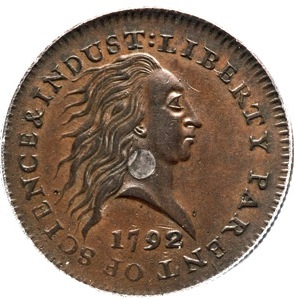 1792 Silver Center Cent Makes $1.15 Million at Heritage Auctions $29 Million+ Central States Event