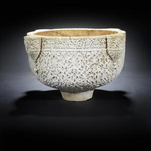 12th century carved marble basin tops Bonhams Indian and Islamic sale
