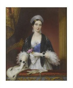 Miniature painting of Queen Victoria at the theatre to be auctioned by Bonhams