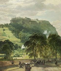 Painting of Edinburgh Castle for auction at Bonhams annual Scottish sale