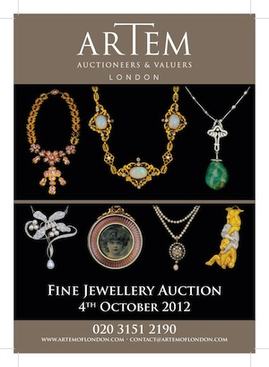 Artem Of London Are Pleased To Announce Their Forthcoming Fine Jewellery Auction Be Held