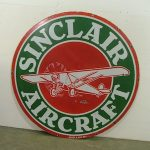 EXTREMELY RARE SINCLAIR AIRCRAFT DOUBLE-SIDED PORCELAIN SIGN BRINGS $19,800 AT AUCTION HELD SEPT. 14-16 BY MATTHEWS AUCTIONS, LLC IN INA, ILL