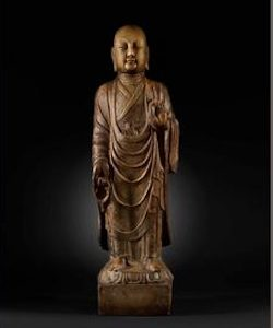 Bonhams to auction marble figure of a Buddhist disciple from the Tang Dynasty